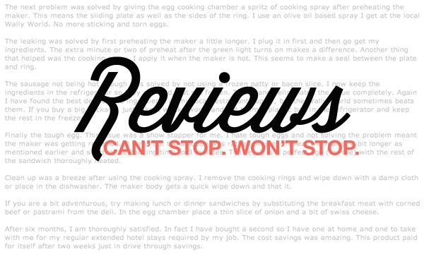 Reviews: Can't Stop. Won't Stop.