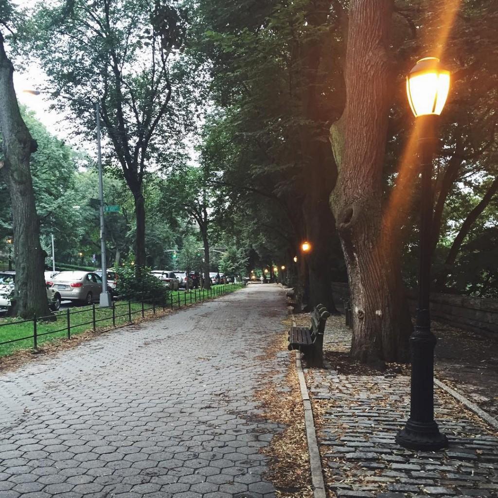 Morning run along Riverside