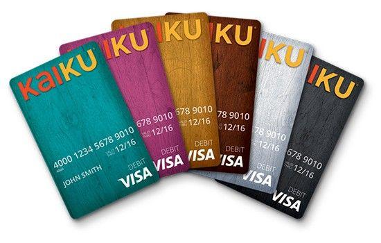 Kaiku Prepaid VISA cards