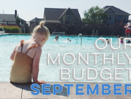 Our Monthly Budget: September
